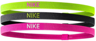 Nike Hairband 3-pack Black/Yellow/Pink