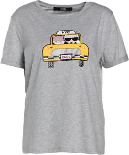 KARL LAGERFELD KARL CHOUPETTE NYC TAXI Tshirts print grey melange