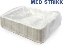 Baljeposer for fotbad 50 stk. m/strikk i slitesterk polyethylene