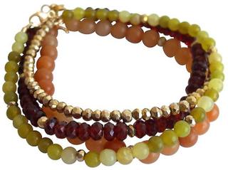 Armband som 4 armband ädelsten armband armband set Garnet jade grön...