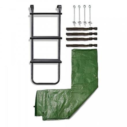 Plum Blomme 10ft trampolin Accessory Kit grøn