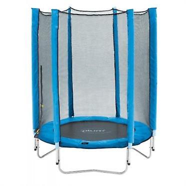 Blomme Junior trampolin og kabinet 4,5 ft blå