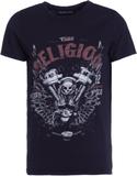 True Religion MOTORBLOCK Tshirt med tryck black