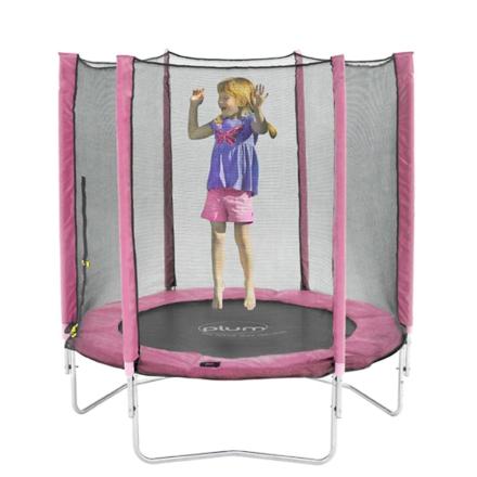 Blomme 6ft trampolin og kabinet Pink