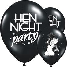 Ballonger Hen Night Party, Svart 6 st