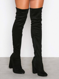 NLY Shoes Block Heel Thigh Boot Thigh-high