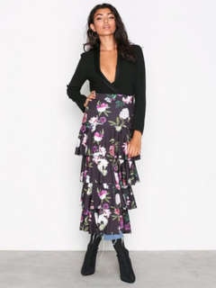 NLY Trend Layered Print Midi Skirt