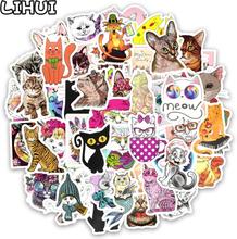50 PCS Kawaii Cat Sticker Animal Cartoon Lovely Children Waterproof Stickers Gift for Kids DIY Laptop Suitcase Scrapbooking Car