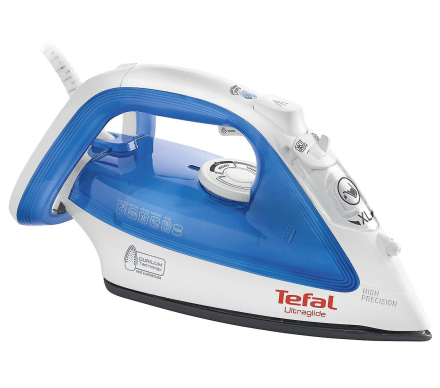 TEFAL Ultraglide dampstrygejern 2400W og 150g/min. Dampskud - blå (...