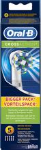 Kjøp CrossAction, 5-Pack Oral-B Tannbørster Fri frakt
