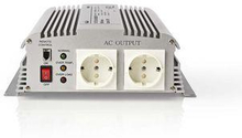 Nedis Strömväxelriktare, modifierad sinusvåg   12 V DC - 230 V AC   1700 W   2x Schuko-uttag