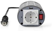 Nedis Strömväxelriktare, modifierad sinusvåg   12 V DC - 230 V AC   150 W   1x Schuko-uttag/1 USB-port