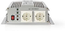 Nedis Strömväxelriktare, modifierad sinusvåg   24 V DC - 230 V AC   1000 W   2x Schuko-uttag   laddningsfunktion