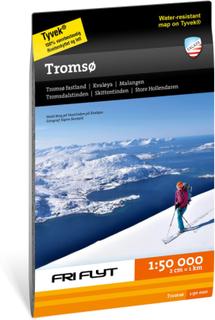 Calazo forlag Tur Og Toppturkart Tromsø litteratur OneSize