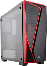 Carbide SPEC-04 Tempered Glass - Red - Chassi - Miditower - Röd