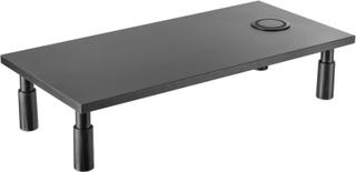 Höj- & sänkbart Skärmställ för Datorskärm (Qi-laddare)