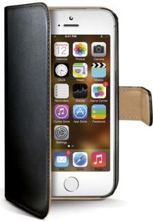 Celly Wallet Case for iPhone 5/5S - Black & Beige