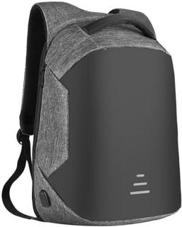 Ryggsäck Inbrottsäker, med USB laddning - Grå