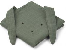 Hannah muslin cloth rabbit 2 pack Rabbit faune green