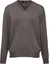 V-ringad tröja i 100% extrafin merinoull från Peter Hahn beige