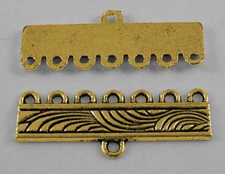 40 st breda smyckesdelar