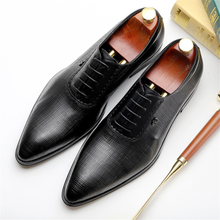 100% Genuine cow leather brogue Wedding shoes mens casual flats shoes vintage handmade oxford shoes for men black wine red
