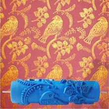 Bird patterned roller 7inch 3d wallpaper decoration toll wall painting roller, rubber roller without handle grip,343C