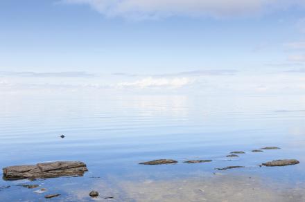 Blue Sea in Gotland Tapetit / tapetti 100 x 100 cm