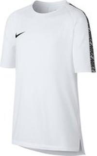 Nike Trenings T-Skjorte Breathe Squad - Hvit/Sort Barn