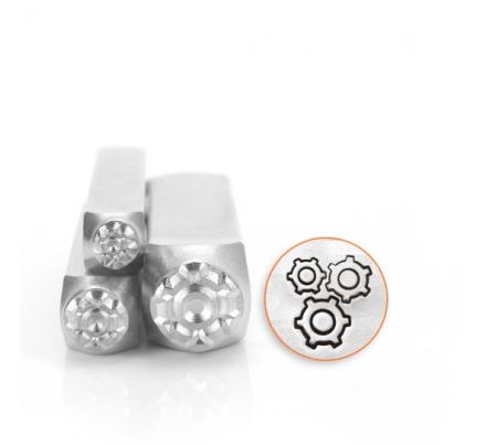Designstansar ImpressArt - Gears Pack, 4,6 och 9,5mm, 3- pack