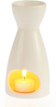 Oljebrenner med telys - Hvit GOA