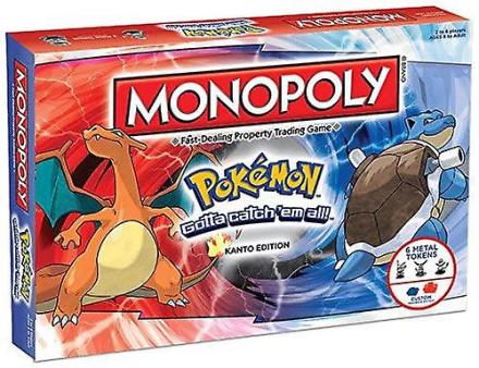 Pokemon monopol Kanto Edition familie brætspil - 2-6 spillere - Fruugo
