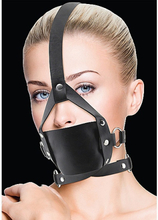 Ouch!: Leather Mouth Gag, svart