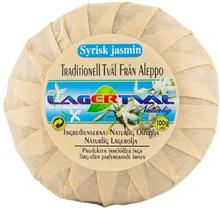 Aleppotvål med doft - 4% lagerbärsolja, ca. 100 g, Syrisk Jasmin