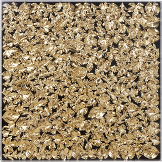 KARE DESIGN Gold Leaf vægdekoration - guld papir/klar akryl (120x120)