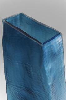 KARE DESIGN Bieco Blue vase - blåt glas, håndlavet, 61 cm