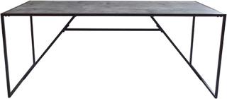 RGE Mexico spisebord - grå folie, betonlook, rektangulær, 1 hylde, (74x180x90cm)