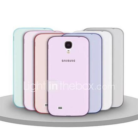 Angibabe Läpinäkyvä Jelly TPU pehmeä suojus Läpinäkyvä kuori Galaxy S4 i9500