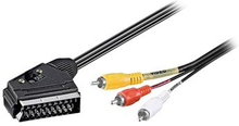 Goobay Scart / 3x RCA Kabel Adapter - 3m