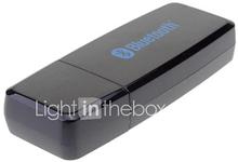 Bluetooth 2.1 EDR Wireless Audio Receiver w / 3,5 mm kaapeli musta