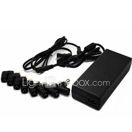 8-In-One Multi-Function Laptop Power Adapter 70W Universal Power AC DC (12-24V)