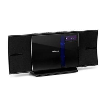 V-16-BT stereoanläggning Bluetooth CD USB MP3 FM väggmontering svart