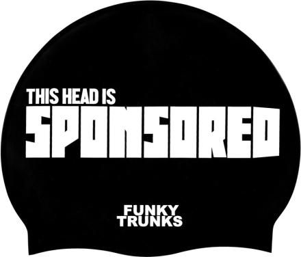 Funky Trunks Silicone Badehette Herre Hvit/Svart 2019 Badehetter