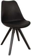 Rob spisebordsstol Sort - Sort sæde