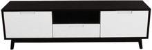 Nora Tv Bord hvid/sort - Bredde 150 cm