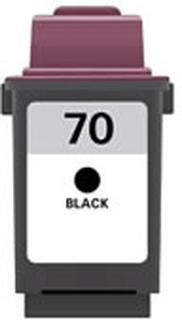 Lexmark 70 (12A1970) Sort kompatibel blækpatron (26 ml)