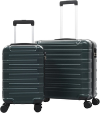 vidaXL Hårda resväskor 2 st grön ABS