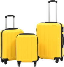 vidaXL Hårda resväskor 3 st gul ABS