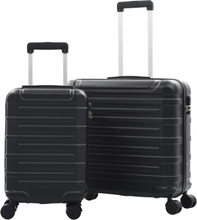 vidaXL Hårda resväskor 2 st svart ABS