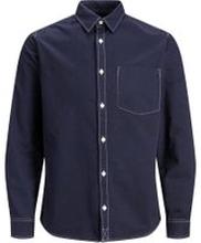 JACK & JONES Enfärgad Skjorta Man Blå